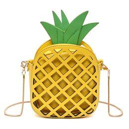 LoveLy korean cartoon girL online shopping - Baby Wallet Kids Purses lovely Korean Style Shoulder Bags Baby Girls Fashion Creative pineapple Golden Chain Bag Kids Mini Crossbody Bags