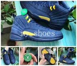 003ce71c53623e 2018 New 12 12s arrival mens basketball shoes Michigan BQ3180-407 men  Athletic shoe trainers sports sneakers size 7-13 on sale