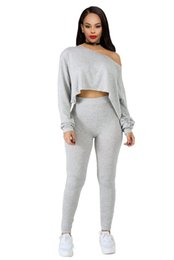ladies sexy white pant suit Australia - 3 colors Full Sleeve Winter tracksuit Women Set Sweatshirt+Pencil pant Leggings Lady fashion sexy two pieces suits casual