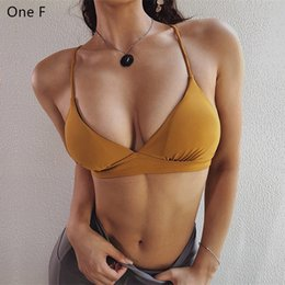 9e055167080 One F Backless Sports Bra For Women Gym Wireless Padded Fitness Workout  Underwear Light Support Comfort Strappy Yoga Bras