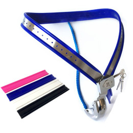 Male chastity Model y online shopping - 3 Color Choose Male Chastity Devices Model Y Stainless Steel Chastity Belt Male Masturbation Chastity Underpant Sex Toys for Men G7