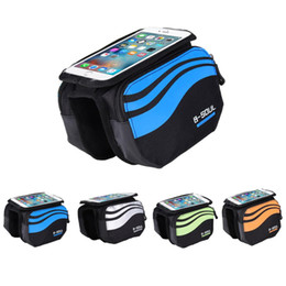 bike panniers green Canada - Bike Frame Front Bag Bicycle Cycling Riding Bag Pannier Smartphone & GPS Touch Screen Case Bicycle Accessories 5.7 Inches