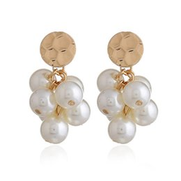 $enCountryForm.capitalKeyWord UK - Fashional Long Pendant Ear Ring Pearl Charm Earring Women Jewelry 925 Sliver Needle Ear Stud For Wedding Party Gift Chandelier Earring