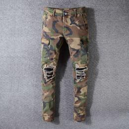 Military cargo jeans online shopping - Brand Designer Multi Pocket Casual Camouflage Pants Men Military Cargo Pants Washed Trouers Loose Pants For Men New Arrival Biker Jeans