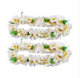 Wedding Garland Hawaiian Artificial Flowers Ghirlanda Plumeria Collana Fancy Dress Party Fun Beach Decorazione del partito