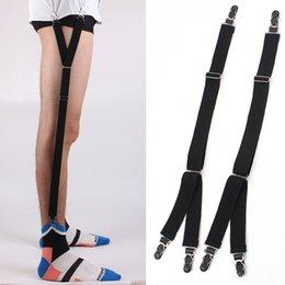 Men's Suspenders Lesov 1 Pair Shirt Garters For Men Shirt Stays Garters Leg Suspenders Adjustable Elastic Shirt Holder Casual Leg Braces Business Apparel Accessories