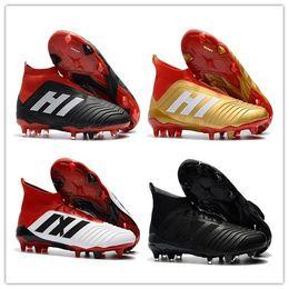 15e2783c6794 2018 Original Predator 18+18.1 Mens FG Football Boots Techfit Laceless High  Ankle Soccer Cleats ACE Soccer Shoes