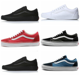 fashion casual classic mens shoes 2019 - 2018 Fashion Old Skool Canvas Mens Classic Skateboard Designer Sports Shoes Men Womens Sneakers Casual Trainers Chaussur