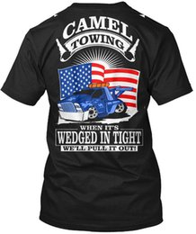 Sh Fashion UK - Camel Towing - When It's Wedged In Tight Well Put It Wholesale Cool Casual Sleeves Cotton T-Shirt Fashion New T Shirts Tagless Tee T-Sh