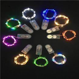 Luci di Natale Romantico lampada a led corda Mini Light Quality Wire Starry Craft Lights Decorazione di Halloween CR2032 Batteria 1 M 10 LED USZ183