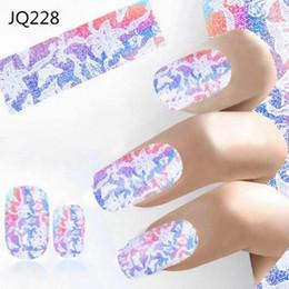 $enCountryForm.capitalKeyWord NZ - 1pc Nail Sticker Nail Art Decals Manicure Tools Hot Sales Fashion Laser Printing Fashion Water Transfer Sticker Paper Girls
