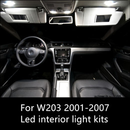 mercedes benz maps UK - Shinman 19pcs Error Free Car LED Interior Map Dome Door Lights for Mercedes benz C-Class W203 LED Interior Package 2000-2007