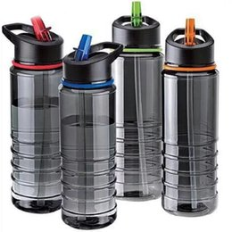 TriTan boTTles online shopping - Flip Tritan With Straw Water Bottle Drinks Sport Gym Hydration Cup Bike Bicycle Cycling Hiking Portable Kettle Novelty Design yx ZZ