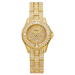 Stainless Steel Unisex Luxury Watches Australia - DHL Wholeslae Fashion Top Luxury Stainless Steel Diamond Bracelet Women Ladies Casual Shining Watch Charm Women Wristwatch