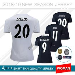 2018 19 Real madrid mulheres casa longe 3ª camisa de futebol Benzema MODURA LUCAS MORATA BALE ISCO 18 2019 Real Football Jeresys