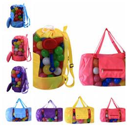 sand tote 2018 - kids Sand Beach Treasures Toys Pouch Tote Mesh Childrens Storage Bag Beach Shells Pouch Tool Bag 30*58CM KKA4444 discoun