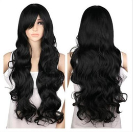 """27"""" Long Black Spiral Wavy Cosplay Party Hair Wig"""