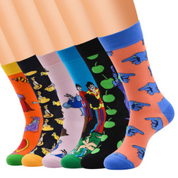 $enCountryForm.capitalKeyWord Canada - 6pairs Men Fun & Funky Colorful Fashion Novelty Crazy Fancy Casual Combed Cotton Colorful Patterned Dresscrew Socks