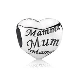 wholesale mum charms UK - Mother Day Gift Mum Alloy Charm Bead Fashion Women Jewelry Stunning Design European Style For DIY Bracelet Necklace