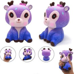 Wholesale Slowly Rewind the Starry Deer Squishies Beer Slow Rising Soft Squeeze Stress Reliever Decompression Relief Toy Novelty Gifts For Novelty