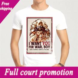 Shorts For Tall Men NZ - Printed Tee Shirt Crew Neck Short Road Doof Warrior Tall T Shirt For Men