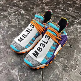 new arrival 236d6 f840b Authentic 2018 Release NMD HUMAN RACE TRAIL SOLAR PACK Running Shoes Men  Women Hi-Res Aqua Core Black Sneakers With Original Box BB9528