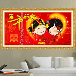 China Pole Australia - Lan New Pattern Diamonds Picture A Harmonious Union Lasting A Hundred Years Wedding Series Bedroom Decoration Painting Generation Hair Recru