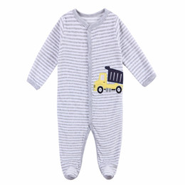 baby boy casual rompers UK - Baby Rompers Clothing fleece Cotton Long Sleeved Comfortable Newborn Baby Pajamas boy clothes Set Kid Jumpsuit