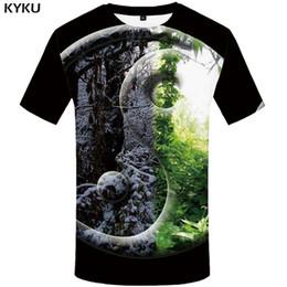 3800648c747c KYKU Forest T-shirt Men Snow Leaf Tshirt Punk Rock Clothes Yin Yang 3d  Print T Shirt Cool Hip Hop Mens Clothing Streetwear Tops