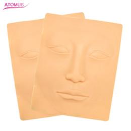 Vente en gros 2pcs visage entier 3d pratique tatouage peau sourcil et lèvre maquillage permanent peau tatouage fausse peau pour aiguille machine
