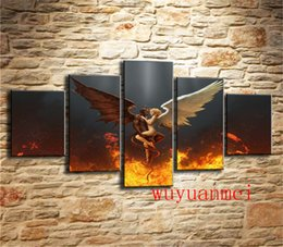 $enCountryForm.capitalKeyWord NZ - Angels & Demons , 5 Pieces Home Decor HD Printed Modern Art Painting on Canvas (Unframed Framed)