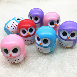 Discount lips smacker wholesale - Free shipping owl Candy Color Moisturizing Lip Balm Natural Plant Sphere Lip Gloss Lipstick Fruit Embellish Lip Smacker