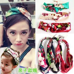 Head Band Boho Australia - 2018 Mixed stlye Printing Flower Headbands for Women Stretch Hairbands Boho Turban Head Warp Hair Band Yoga Elastic Girls Headbands