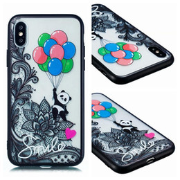 Plus Owl Case NZ - Luxury Relief Flower Lace Case For Iphone XR XS MAX X 10 8 7 Plus 6 6S Henna Paisley Mandala Hard PC+Soft TPU Owl Panda Butterfly Back Cover