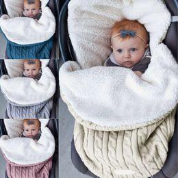 Discount baby wash bag - Urijk Children Swaddle Wrap Warm Wool Crochet Knitted kid Infant Sleeping Bag Baby Swaddling Blanket Sleep Bags baby bla