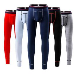 outdoor thermal underwear NZ - Men's Thermo Underwear Long Johns Men Modal Winter Warm Thermal Underwear Brand Male Outdoors Thermals Anti-microbial Long Pants