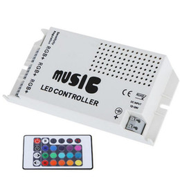 remote control rgb led strips UK - DC12-24V Music Sound LED Controller with 3 Channels 9A 24key IR Remote Control for 5050 3528 5630 RGB LED Strip Light