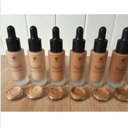Discount ml control - In Stock! U nique Touch Liquid Foundation Moisturizer facial basic make up foundation 20 ml free shipping 10 colors