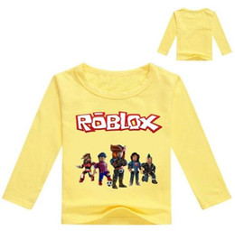 animal characters for kids UK - 2018 Kids Long Sleeve T-shirt For Boys Roblox Costume For Baby Cotton Tees Children Clothing School Shirt Boys Blouse Tops