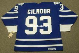 b02cd09ebd6 custom Mens Jerseys DOUG GILMOUR Toronto Maple Leafs 1995 CCM Vintage Cheap  Retro Hockey Jersey
