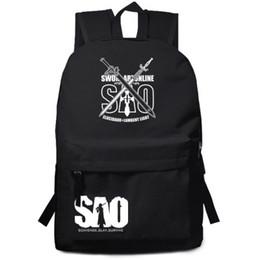 Discount sword art cosplay - Sword Art Online SAO Anime Nylon Backpack Laptop Bag School Bag Shoulder Travel Cosplay