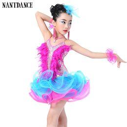 1f243b4a2cec Children Professional Latin Dance Dress for Girls Ballroom Dance  Competition Dresses kids Modern Waltz tango Cha Cha Costumes