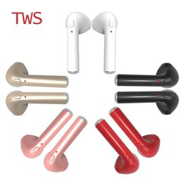 i7 plus ear phones Canada - 1PCS i7 TWS Twins Wireless Earbuds Mini Bluetooth V4.2 Stereo Headset earphone For phone 7 plus 7 6s 6 plus SE S8 Plus