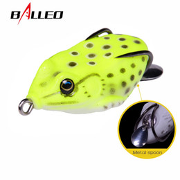 $enCountryForm.capitalKeyWord NZ - Balleo soft lure 6cm 12g fishing soft frog Lure Snakehead fishing wobbler silicone bait with metal spoon fishing lure Y18100906