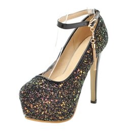 PurPle glitter stilettos online shopping - SJJH Bling Pumps with Round Toe and Stiletto Elegant Wedding Dressy Shoes for Fashion Women with Large Size Available A268