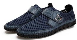 Plana com cabeça redonda Sandálias de verão malha de couro dos homens sapatos casuais Malha Respirável Definir pé Malha Preguiçosos sapatos de borracha única venda por atacado