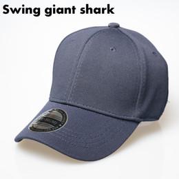 Swing giant shark  2017 light baseball cap outdoor men cap full closed hats  rubber band hedge bone high quality snapback gorras 8f2532aaacc0