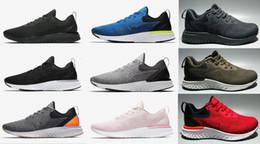 super popular be3b7 0b90a 2018 New Epic Odyssey React Fly tessuto lavorato a maglia nero bianco  scarpe da corsa per il progettista di alta qualità nero bianco uomo  sportivo sneakers ...