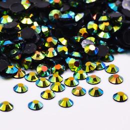 Crystal 3mm NZ - JUNAO 10000pcs 3mm Black AB Rhinestones Flatback Resin Gems Nail Art Stones Glue On Crystal Strass For DIY Jewelry Clothes