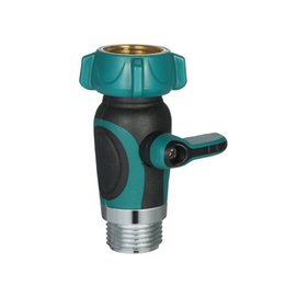 1 Way Garden Hose Shut Off Valve Faucet Water Supply Garden Adapter Full  Metal Bolted And Threaded Spigot Extender Family Safe Adapter
